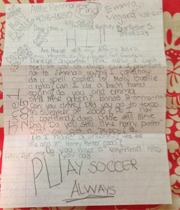 I was able to find half of my fifth grade letter from an old instagram post.