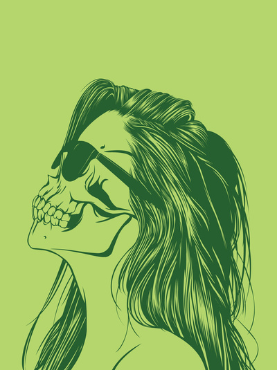 Skull Girl 2 by Gerrel Saunders